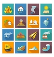 Natural Disaster Icons vector image