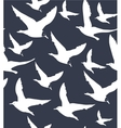 navy blue background with white seagulls vector image