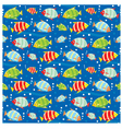 seamless fishes pattern vector image