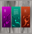 vertical banner set with abstract dynamic vector image