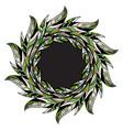 abstract leaves frame border floral leaf banner vector image