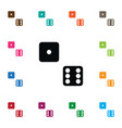 isolated dice icon die element can be used vector image