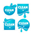 collection of clean water stickers and symbols vector image