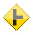 Side Road Sign vector image