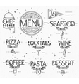 Menu in vintage modern style lines drawn vector image vector image