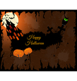 Halloween Greeting Card vector image