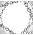 Background with chains vector image