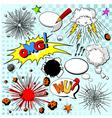 Comic elements vector image