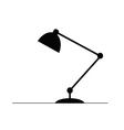 lamp in black vector image