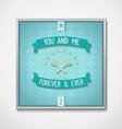 Love phrase with symbol attitude vector image