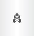 man praying icon symbol vector image