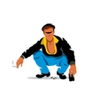 relaxed man Cartoon vector image