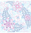 Seamless floral background with forget-me-not vector image