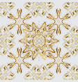 seamless royal luxury golden baroque damask vector image
