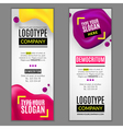 Set with banners for web site vector image