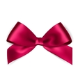 Shiny pink satin ribbon on white background vector image