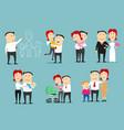 family life cycle cartoon character set design vector image