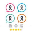 breast cancer awareness icons ribbon signs vector image
