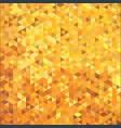 abstract gold color triangle mosaic cube tile vector image