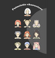 Futuristic characters vector image