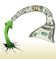 Arrow With Lots of Money vector image vector image