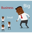 Partnership between big and small business vector image vector image