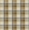 Brown tartan plaid background vector image