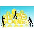 Business teamwork vector image