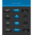 User Interface Elements - Arrows vector image