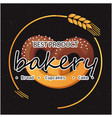 bakery best product bread cupcakes cake oat circle vector image