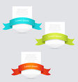 Banners with ribbon vector image