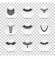 bead silhouettes set silhouette icons with vector image