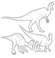 corythosaurus lineart vector image