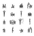 Depression Icon Set vector image