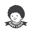 emblem with childrens head vector image