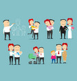 family life cycle cartoon character set design vector image
