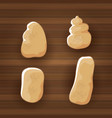 funny cartoon cute brown sweet potatoes set vector image