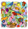 garden colorful pattern vector image