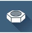 nut icon vector image