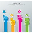 paper hand number infographics vector image