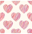 Seamless pattern with wavy hearts vector image