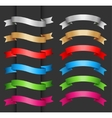 Set of ribbon banner for your text vector image