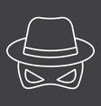 spy line icon incognito and agent vector image
