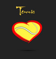 tennis ball shaped as a heart vector image