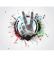victory hand sign vector image