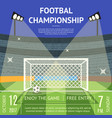 cartoon football championship soccer field banner vector image