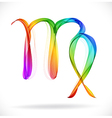 Abstract color sign of the zodiac - Virgo vector image vector image
