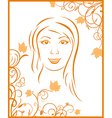 autumn girl portrait vector image vector image