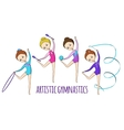 Sports for kids Artistic gymnastics vector image