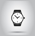 clock watch icon on isolated background business vector image